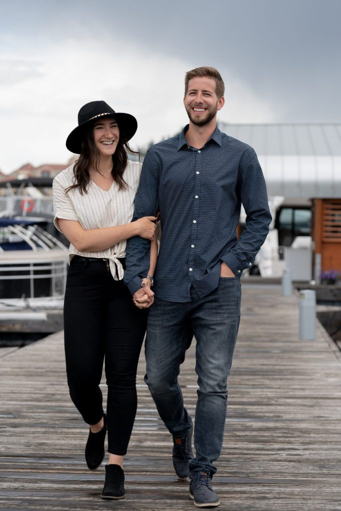 Okanagan-pier-smiling-couple-New-Look-Dental